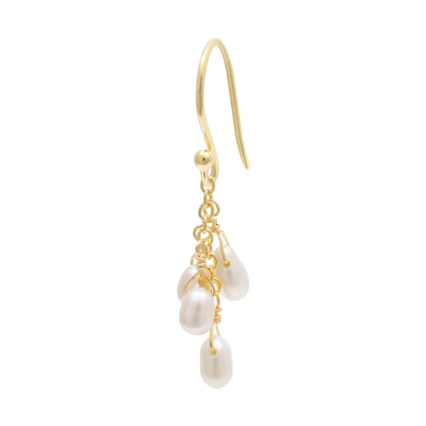 "'Luna"" Cascading Pearl Earrings"