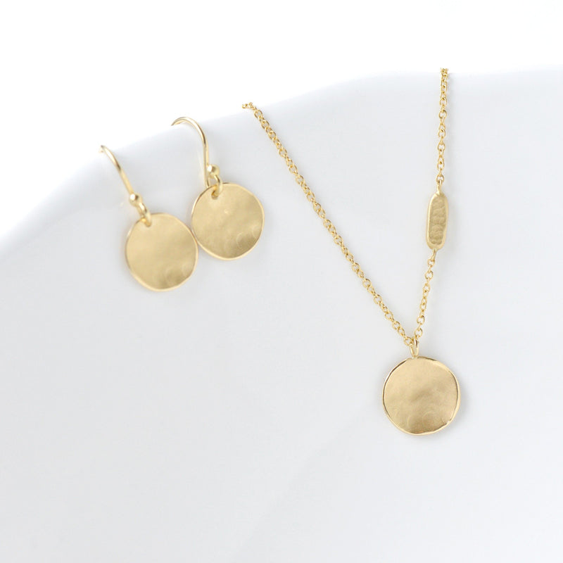 Petite Gold Round Disc Earrings - Anne Sportun Fine Jewellery Toronto, Canada, and U.S.