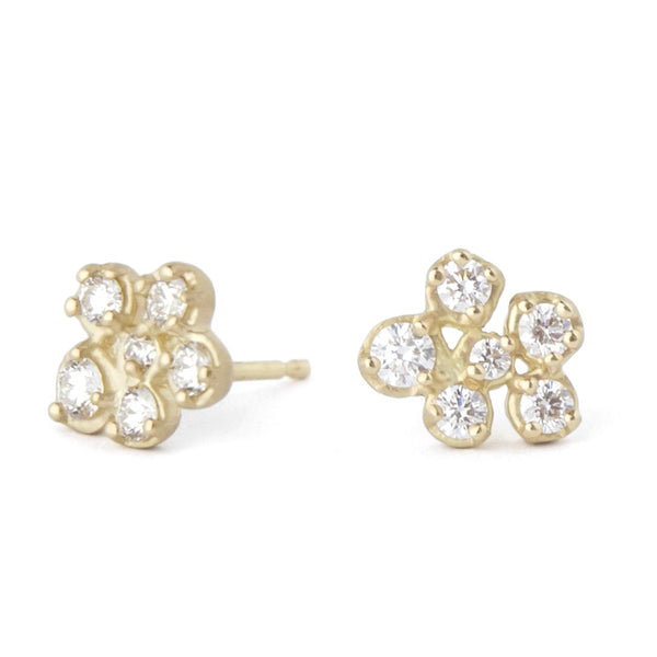 Small Flower Cluster Stud Earring - Anne Sportun Fine Jewellery