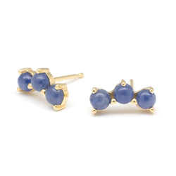 Gemstone Trio Climber Earrings - Anne Sportun Fine Jewellery