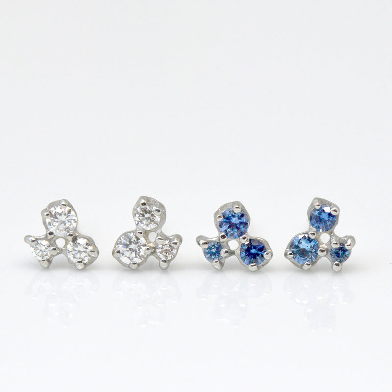 Cluster Trio Diamond Earrings - Anne Sportun Fine Jewellery