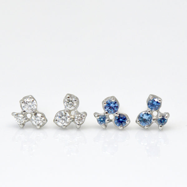 Cluster Trio Sapphire Earrings - Anne Sportun Fine Jewellery