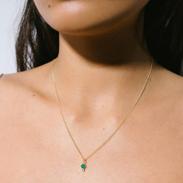 GEMSTONE AMULET  | EMERALD | 10K GOLD
