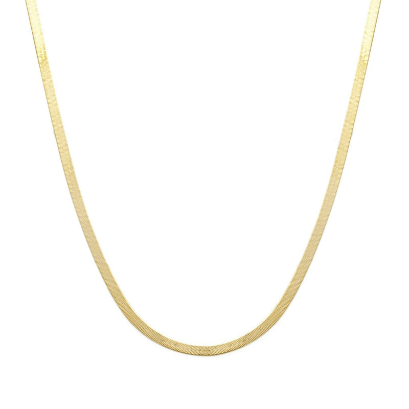 HERRINGBONE MOTHER NECKLACE | 10K GOLD