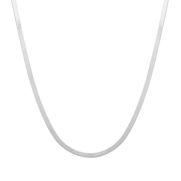 HERRINGBONE MOTHER NECKLACE | SILVER