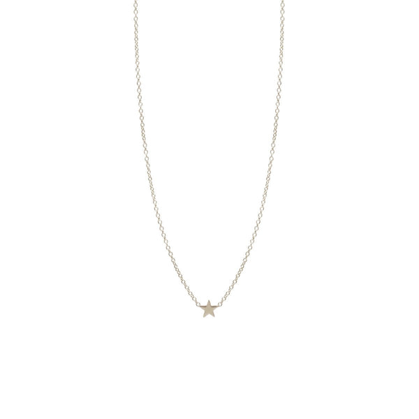 ITTY BITTY STAR NECKLACE - 14k WHITE GOLD