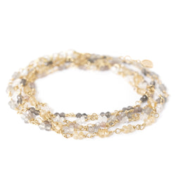 Gold Tied Ombre Gemstone Wrap Bracelet - Anne Sportun Fine Jewellery