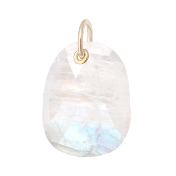 Organic Faceted Moonstone Charm - Anne Sportun Fine Jewellery