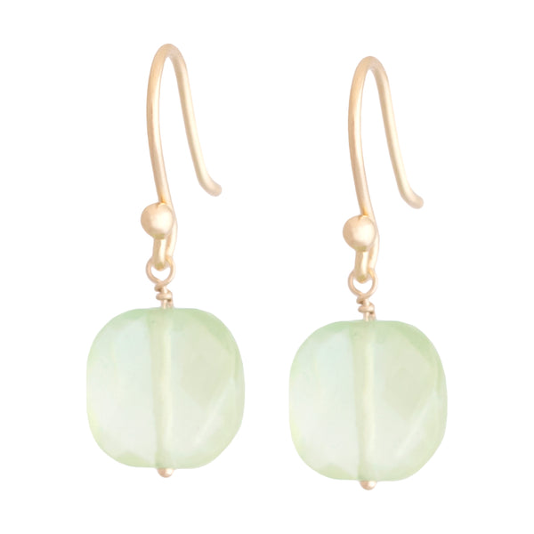 Square Prehnite Drop - Anne Sportun Fine Jewellery