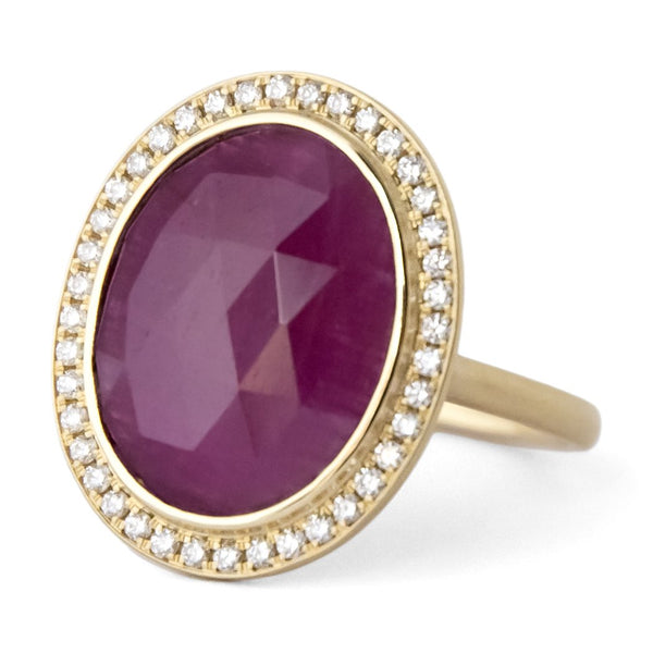 Oval Ruby Ring - Anne Sportun Fine Jewellery