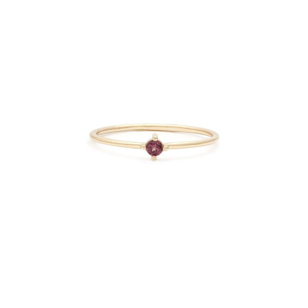 ELEMENT RING | 14K GOLD & GARNET
