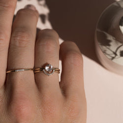 COMPASS RING | MORGANITE - Anne Sportun Fine Jewellery