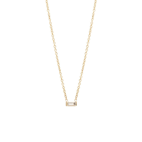 DIAMOND BAGUETTE NECKLACE - Anne Sportun Fine Jewellery