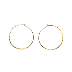 MEDIUM THIN HAMMERED HOOPS - Anne Sportun Fine Jewellery
