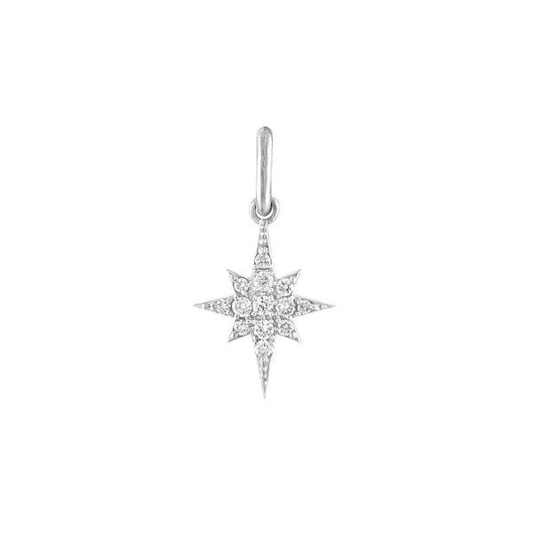 MINI STELLA CHARM | 10k WHITE GOLD