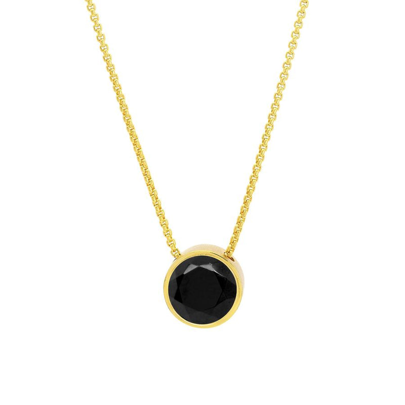 Knockout Pendant, Gold & Black Onyx