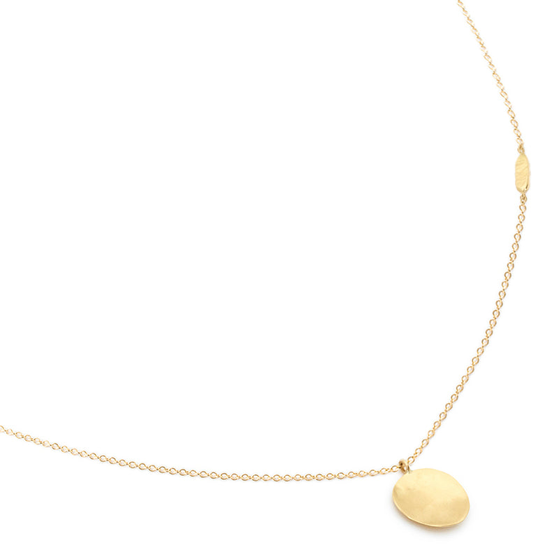 Hammered Disc Necklace - Anne Sportun Fine Jewellery