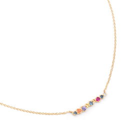 Multi-Coloured Sapphire Bar Necklace - Anne Sportun Fine Jewellery Toronto, Canada, and U.S.