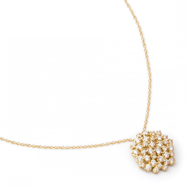 Diamond Cluster Festival Necklace - Anne Sportun Fine Jewellery