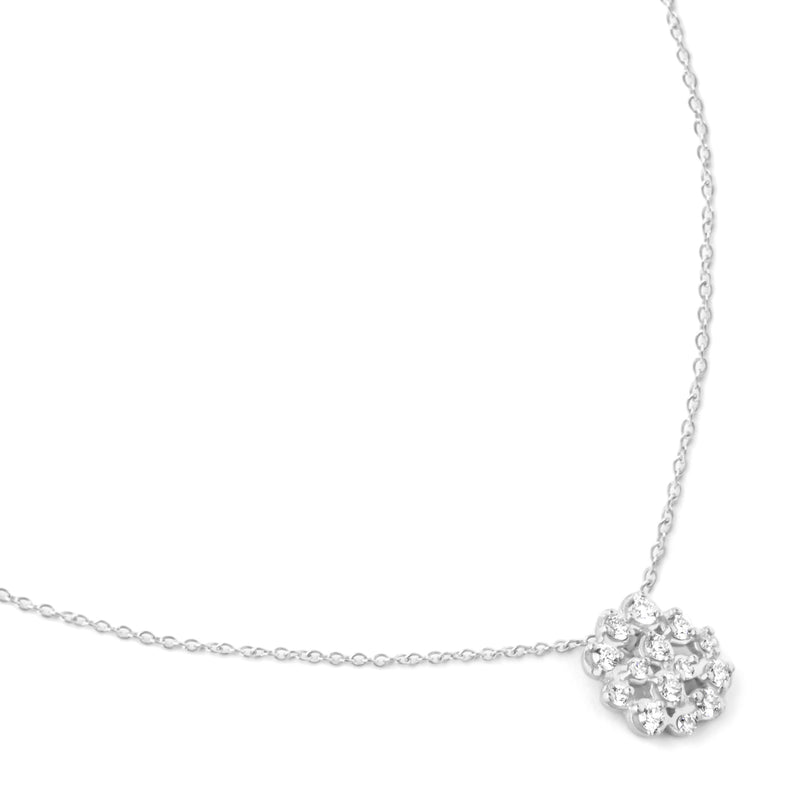 Medium Diamond Cluster Necklace