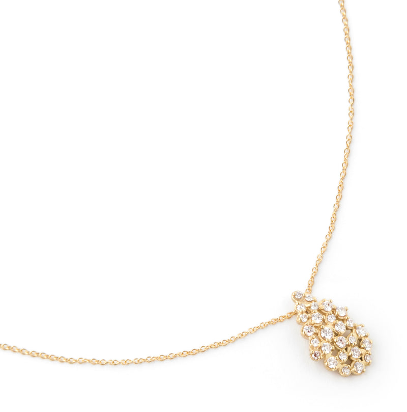 Pear Cluster Diamond Necklace - Anne Sportun Fine Jewellery