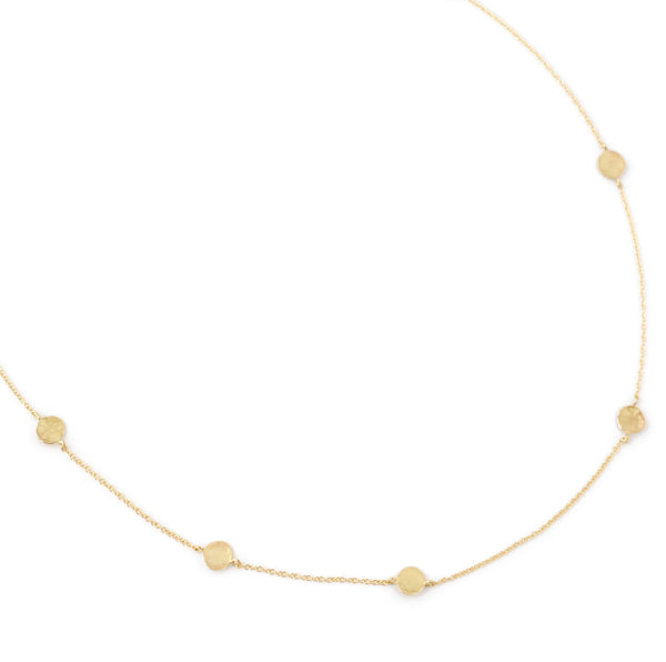 Eight Hammered Gold Disc Necklace - Anne Sportun Fine Jewellery