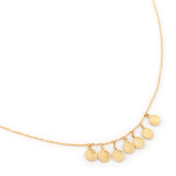 7 Hammered Disc Cluster Necklace - Anne Sportun Fine Jewellery