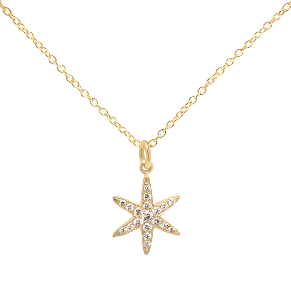 Diamond Pave Star Necklace - Anne Sportun Fine Jewellery