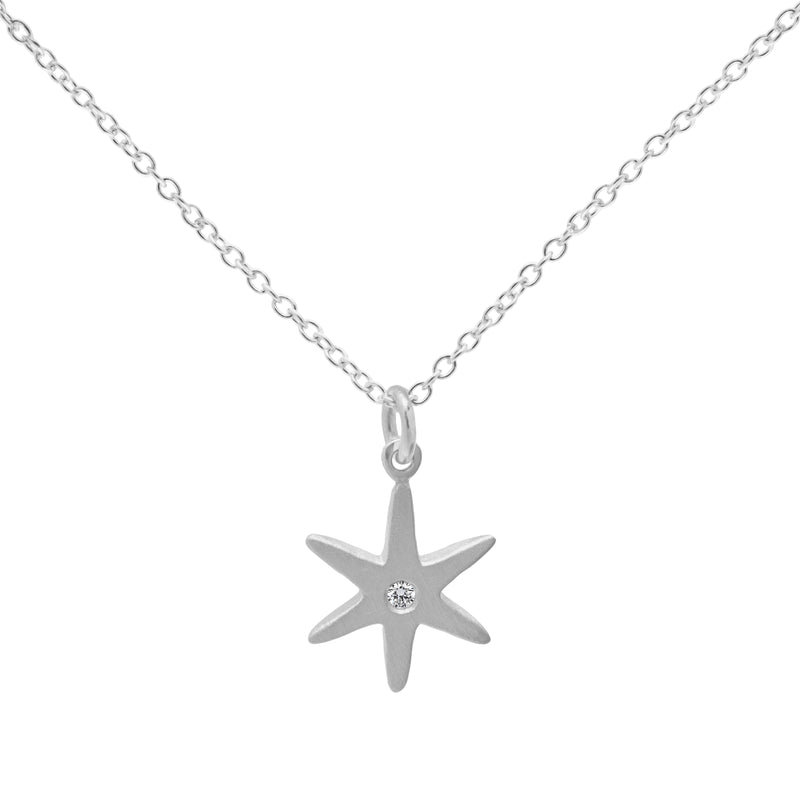 Diamond Center Star Necklace