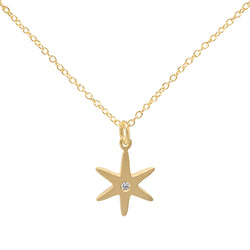 Diamond Center Star Necklace - Anne Sportun Fine Jewellery