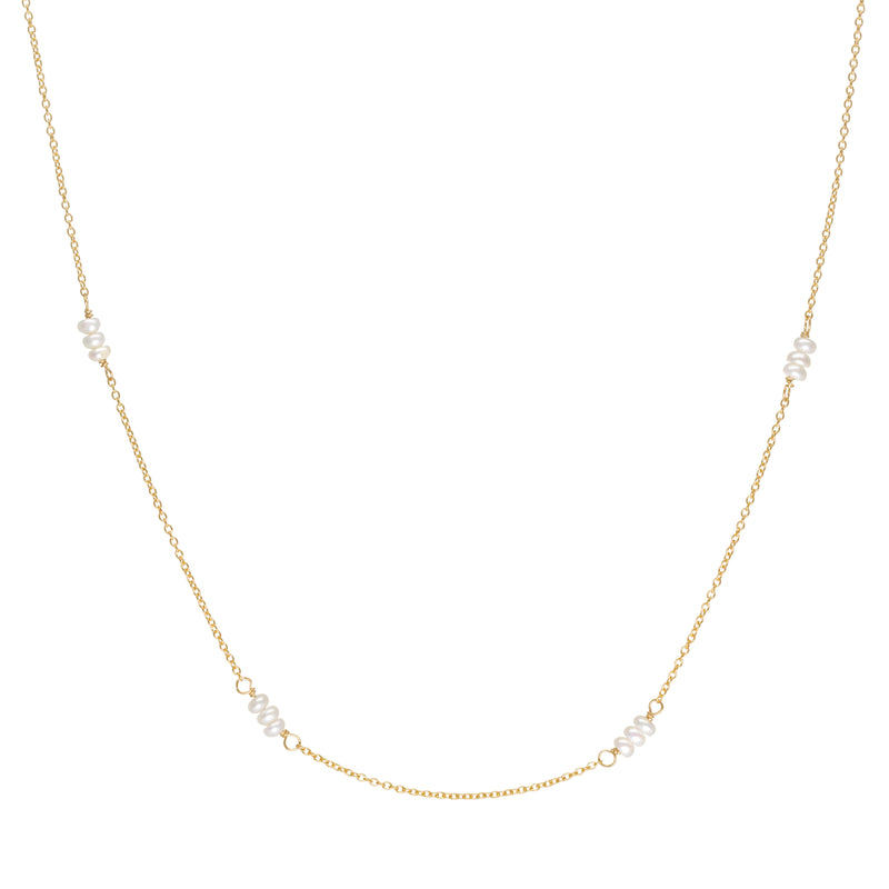 'Luna' Freshwater Pearl Station Necklace
