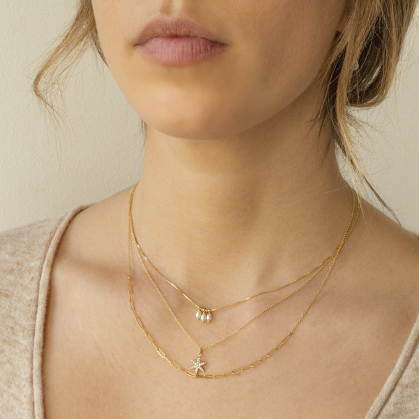 'Luna' Pearl Trio Necklace