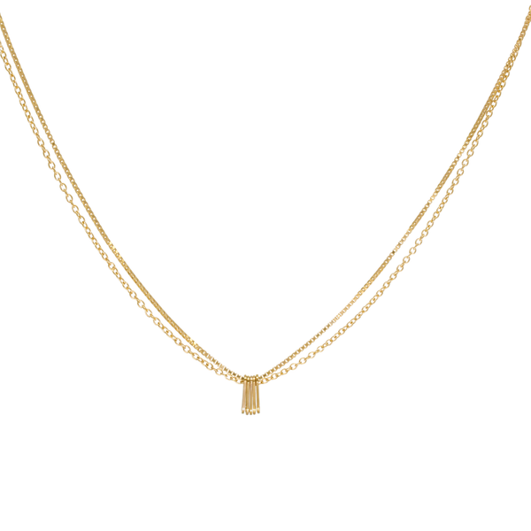 'Luna' Double Chain Necklace