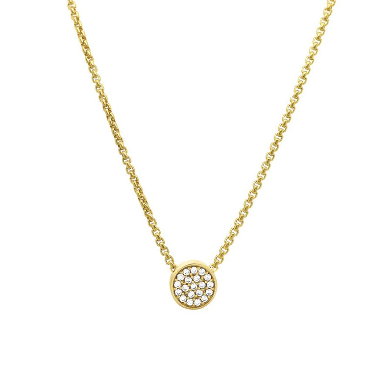 PAVE PENDANT NECKLACE - White Topaz