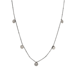 Oxidized Triple Disc Silver Necklace