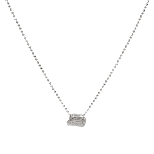 Tiny Scroll Slider Silver Necklace