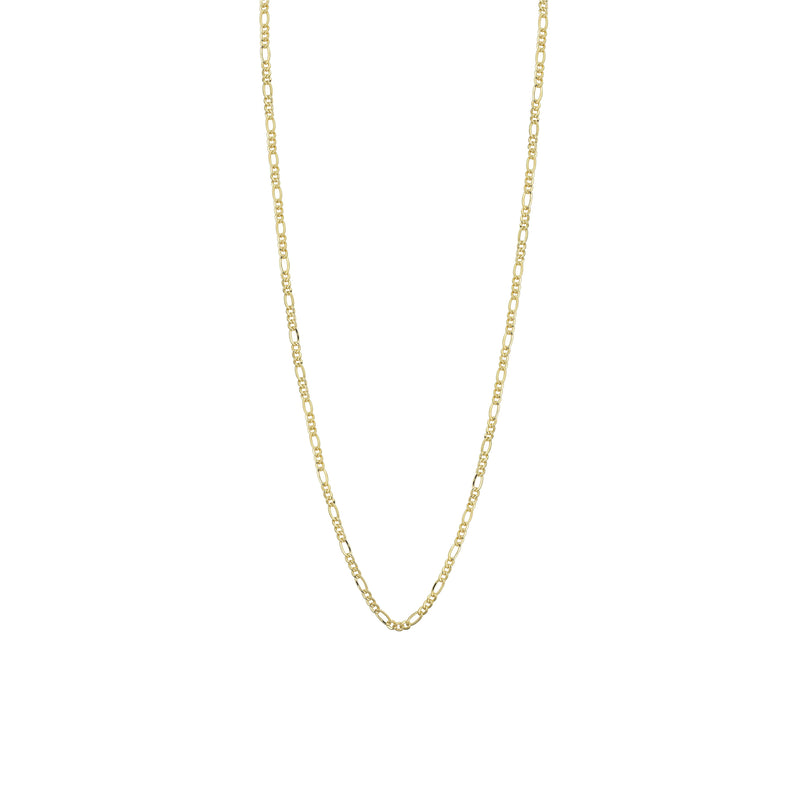 SOLID 1.2mm FIGARO LINK CHAIN NECKLACE - 14K YELLOW