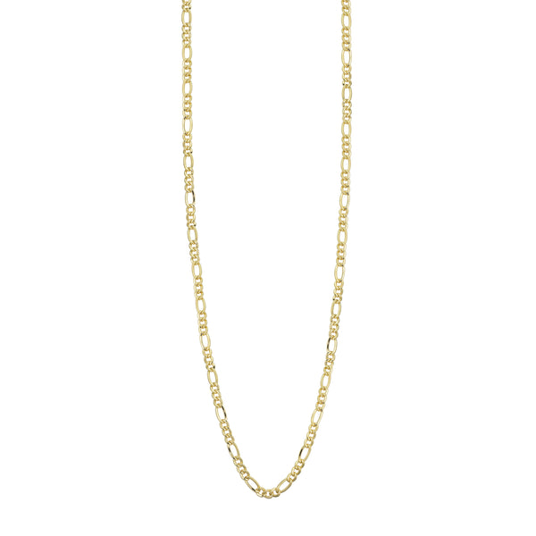10K YELLOW GOLD 2.4MM FIGARO CHAIN
