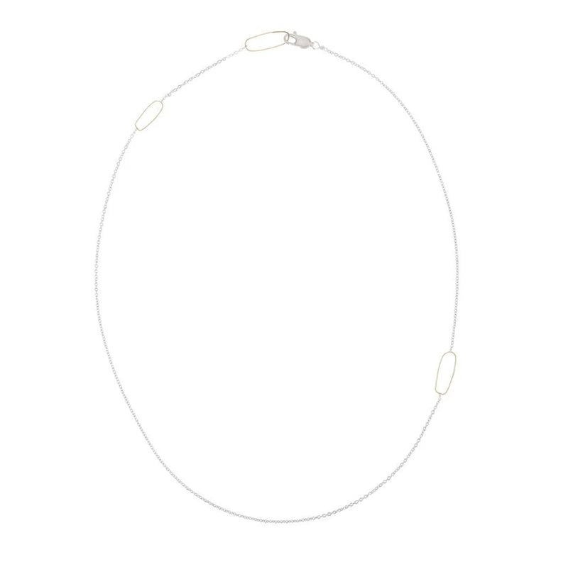 RECTANGLE & DELICATE CHAIN NECKLACE