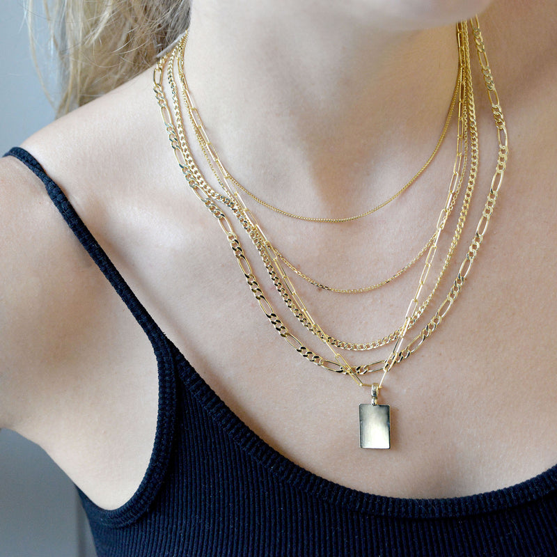 14K GOLD 3MM PAPERCLIP NECKLACE