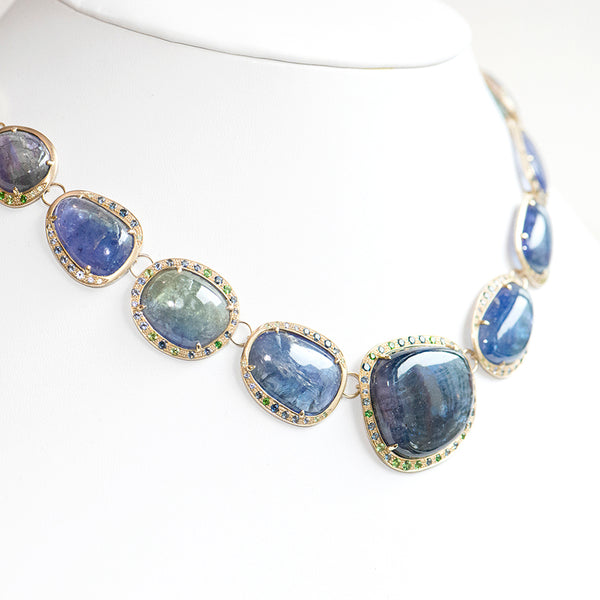One of a Kind Tanzanite Necklace - Anne Sportun Fine Jewellery
