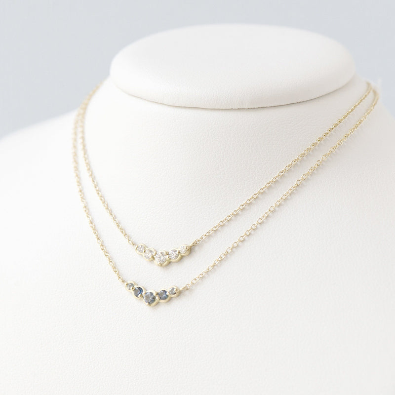 Small Graduated Blue Sapphire Necklace - Anne Sportun Fine Jewellery