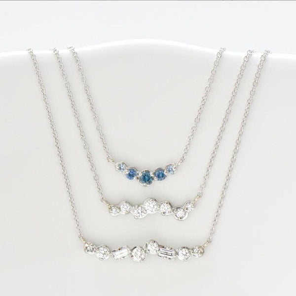 Cascade Diamond Bar Necklace - Anne Sportun Fine Jewellery