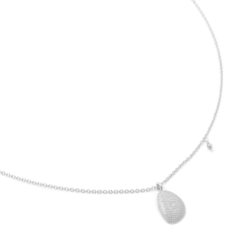 Organic Drop Petal Necklace - Anne Sportun Fine Jewellery