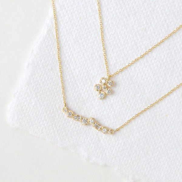 Small Flower Cluster Festival Necklace - Anne Sportun Fine Jewellery Toronto, Canada, and U.S.