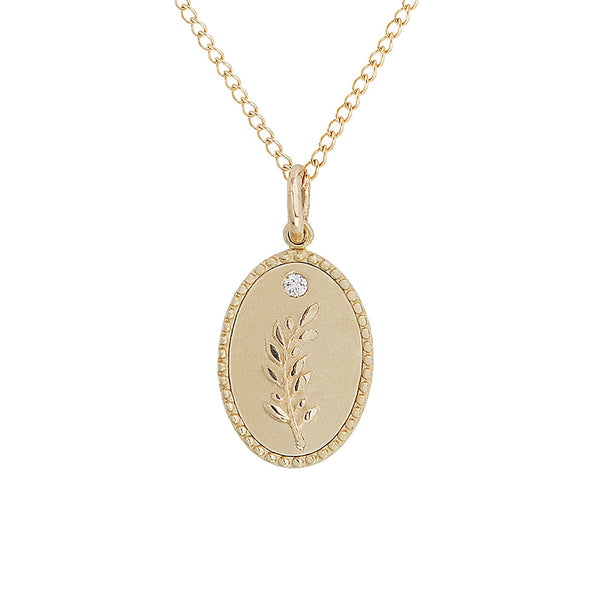 OLIVE BRANCH | Traveler's Token Necklace | 10k GOLD