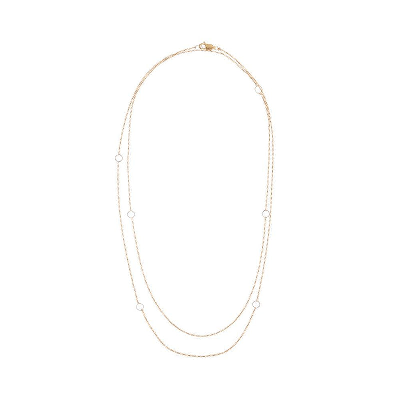 LONG SILVER & GOLD DELICATE CHAIN NECKLACE