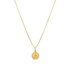 LOVE TOKEN NECKLACE ROUND | Gold