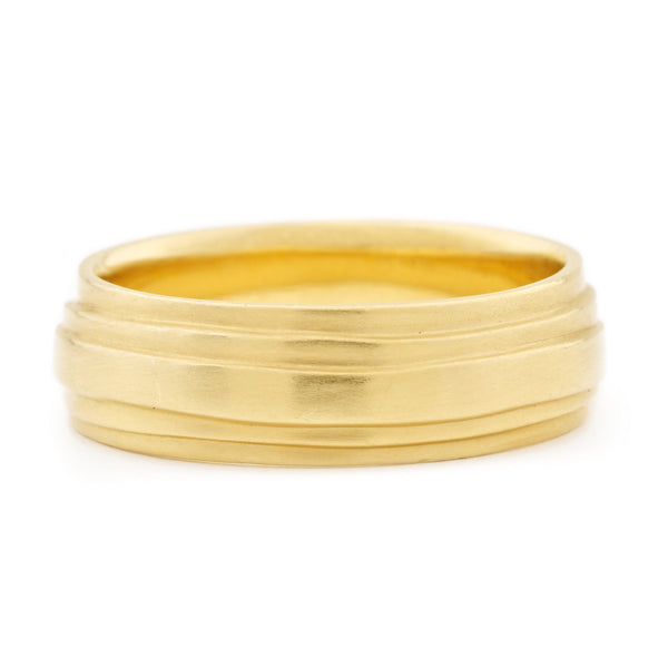 Men's Gold 'Wrap' Band - Anne Sportun Fine Jewellery
