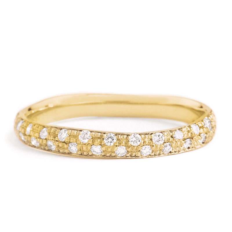Narrow Pave Diamond Band